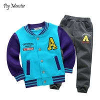 Kids Baseball Jogging Suit School Boys Girls Sports Suit Children Clothing Set Sweatershirt + Pants 2Pcs Children Tracksuit A86