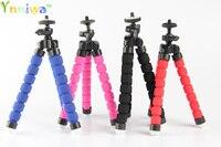 10pcs Red Black Blue Flexible Mini Tripod Portable Octopus Stand Mount Bracket Holder Monopod For Mobile