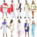 Ancient Greece Costume Goddess Clothing Adult Cosplay Carnival Halloween Costumes for Women Men Kids Christmas Birthday Party