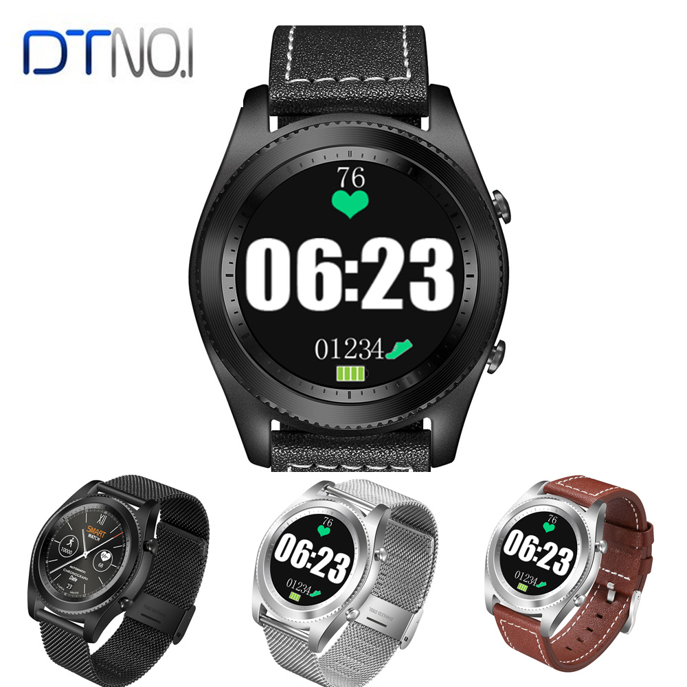 Original DTNO.I No.1 S9 MTK2502C Smartwatch Heart Rate Monitor Bluetooth Smart Watch Bracelet For IOS Android Health Tracker dtno 1 s9 gps mtk2502c touch smartwatch heart rate monitor bluetooth 4 0 smart watch bracelet wearable devices for ios android