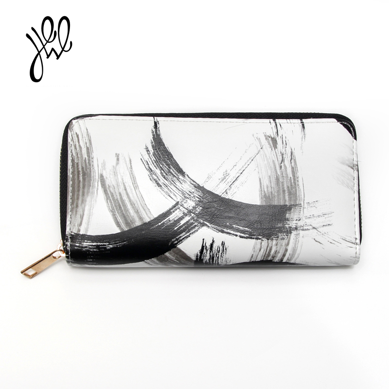 PU Leather Wallet Women Brand Long Zipper Purses Fashion Minimalist Style Ladies Wallet With Phone Card Coin Passport Holder
