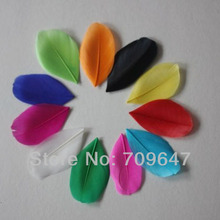 New!Hot!Wholesale!1000Pcs/Lot 5CM Trimmed Multicolor Goose Feathers Craft Diy for Accessories FREESHIPPING
