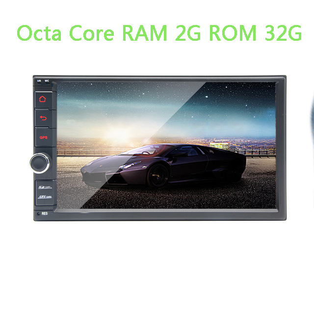 <font><b>2</b></font> <font><b>Din</b></font> 7'' Octa Core Universal Android 8.1 2G RAM 32G Car Radio Stereo GPS Navigation WiFi 1024*600 Touch Screen 2din Car dvd image