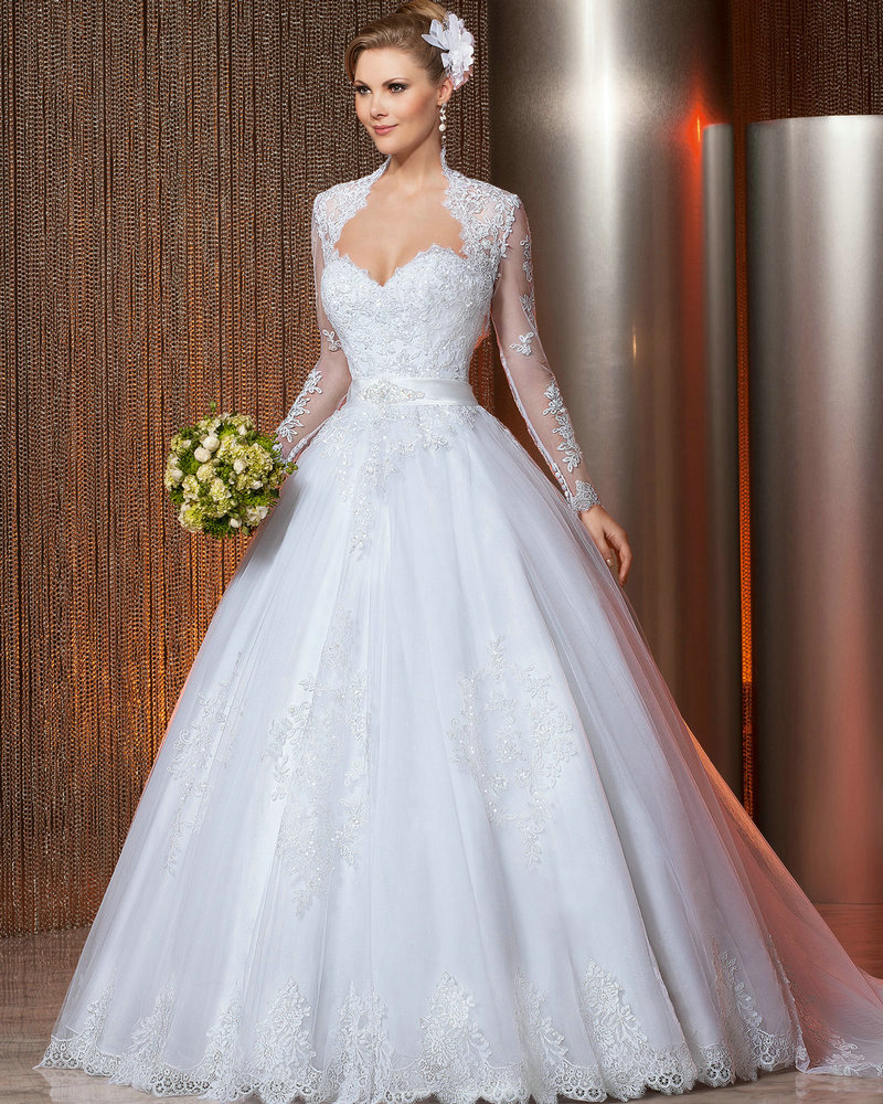 ball gown wedding dresses with ribbon
