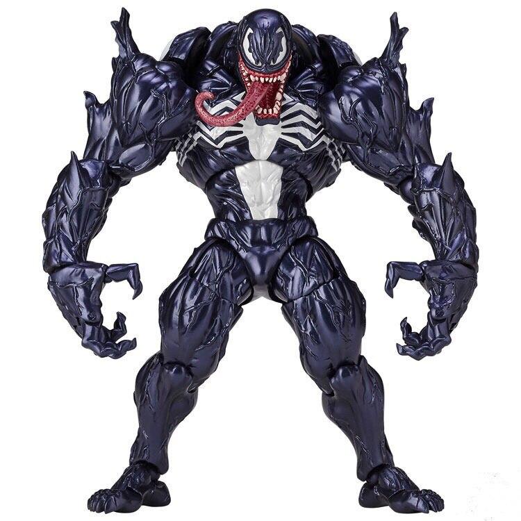 XINDUPLAN Marvel Shield No.003 Venom The Amazing Spider-Man Super hero Action Figure Toys 18cm PVC Collection Model 1034 figma x man series spiderman figure no 001 revoltech deadpool with bracket no 002 revoltech spider man action figures