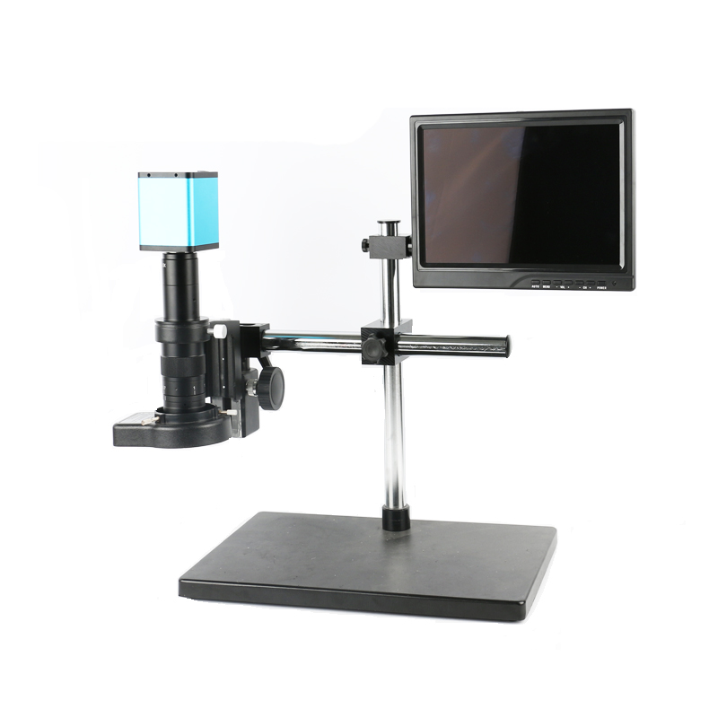 Single arm support SONY <font><b>IMX290</b></font> HDMI video USB Industry <font><b>Microscope</b></font> Camera + 180X 300X C-Mount Lens+10.1