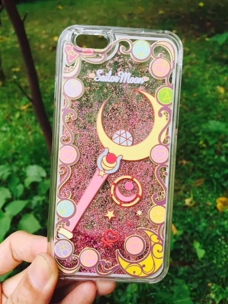 quality design 07ebd b19c1 US $4.93 |For Coque iphone 6 6 s 5 5s SE 7 plus Dynamic Liquid Glitter Case  Sailor Moon Quicksand Crystal Clear Cell Phone Case Back Cover on ...