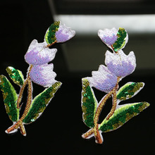 1pair Sequins orchid flower iron on patches for clothing DIY sequin floral patchs fer Embroidery applique parche ropa
