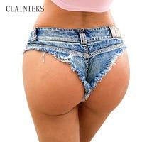CLAINTEKS Apparel Sexy Denim Shorts Women Summer Hole Short Jeans Mini Hot Shorts For Vacation 2017