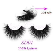 New on sale SD01 3D silk eyelash 100% Handmade crossing lashes 0.07 silk  individual strip thick lashes