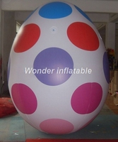 High quality lighted giant 3m high inflatable easter egg for Easter decoration on sale