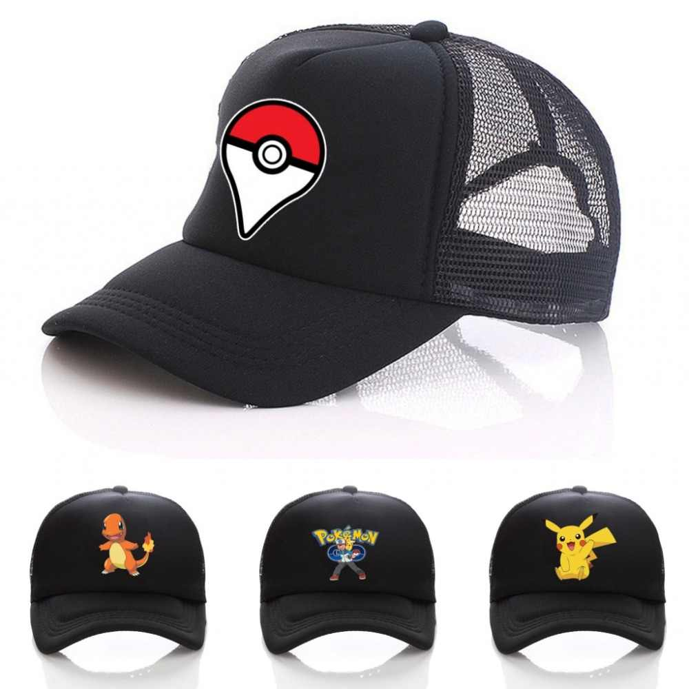 9c3a166b29528 Detail Feedback Questions about anime Cosplay Pokemon hat Pocket Monster Ash  Ketchum Baseball Trainer Cap Black adjusted snapback hat on Aliexpress.com  ...