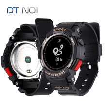 2018 NEW No.1 F6 Smartwatch IP68 Waterproof Bluetooth 4.0 Dynamic Heart Rate Monitor Smart watch For Android Apple Smart Phone(China)