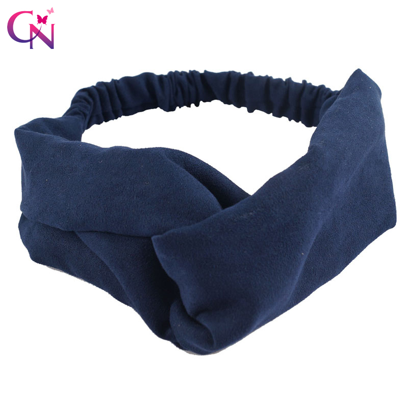 Fashion Soft Twist Suede Headband For Women Adult Lady Vintage Plain Fabric Stretch Hairband Turban Headwrap Hair Accessories metting joura vintage bohemian ethnic solid satin fabric cross turban elastic headband hair accessories