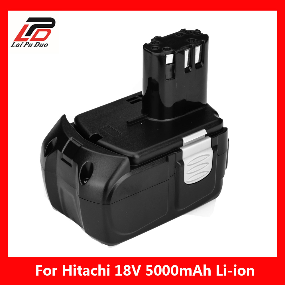 18 V 5000 mAh Li-ion pour batterie d'outil électrique Rechargeable HITACHI BCL1815 BCL1830 EBM1830 327730 EBM1830