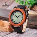 BOBO BIRD  двухцветные деревянные часы для мужчин  большие размеры  стильные кожаные кварцевые часы в деревянной подарочной коробке