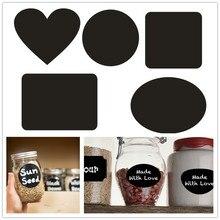 36 Pcs/set Blackboard Sticker Craft Kitchen Jars Organizer Labels Chalkboard Chalk Board 5cm x 3.5cm Black