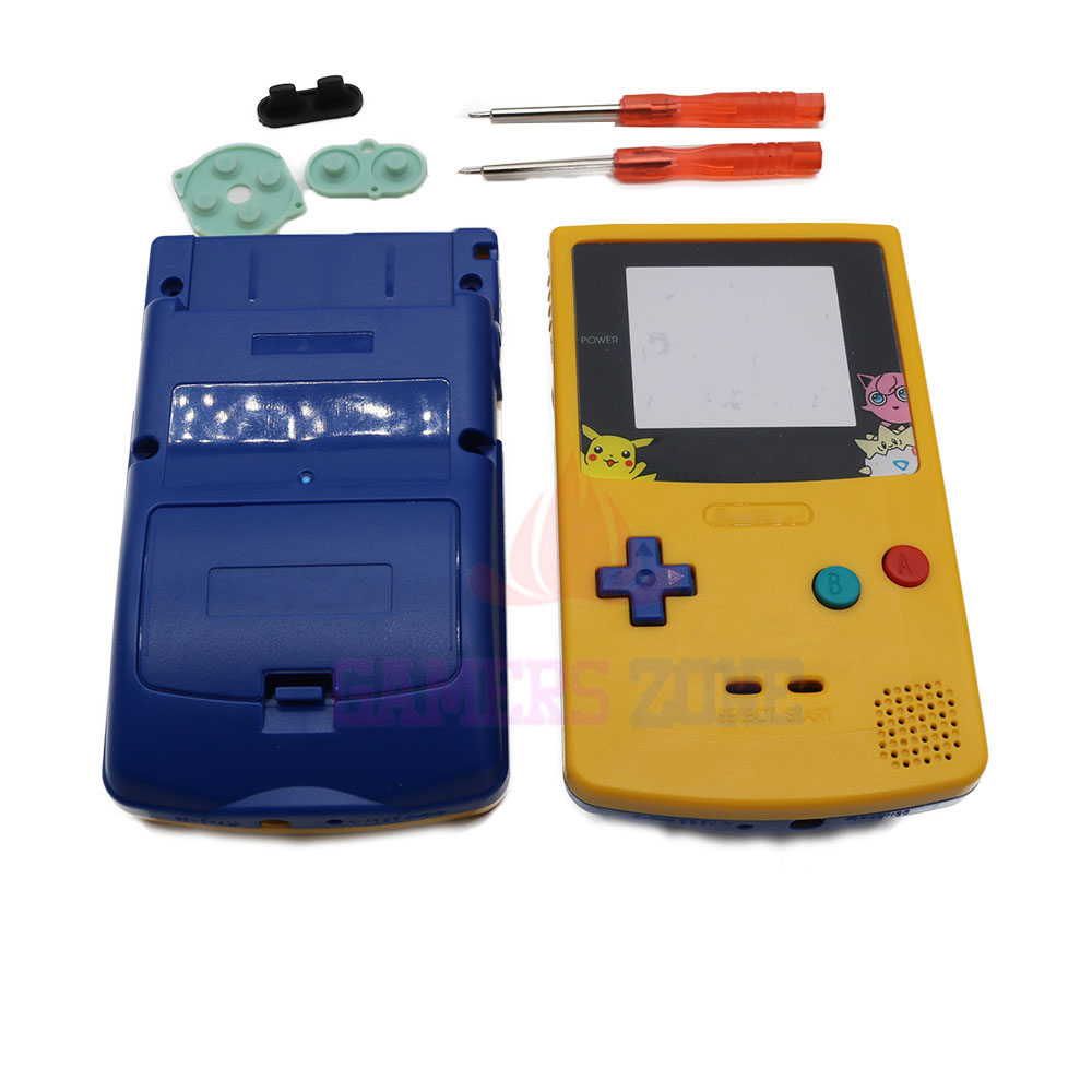 Gameboy color and pokemon yellow - For Pikachu Limited Editiin Upper Yellow Below Blue Housing Shell For Nintendo Gameboy Color Gbc Pokemon Housing Case Pack On Aliexpress Com Alibaba Group