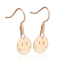 HOMOD Trendy Jewelry Smiley Face Earrings Charms For Women Simple Gold Silver Color Small Drop Earring