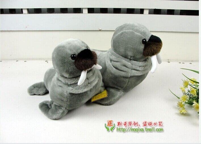 ФОТО stuffed plush 34cm simulation elephant seal plush toy simulation Odobenus rosmarus quality goods soft doll gift w3433