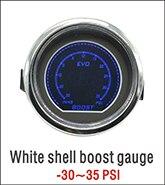 Дракон манометр 52 мм белый корпус автомобиля EVO датчик давления масла ЖК цифровой красный/синий светодиодный подсветка дымовая линза 0~ 150 фунтов/кв. дюйм манометр
