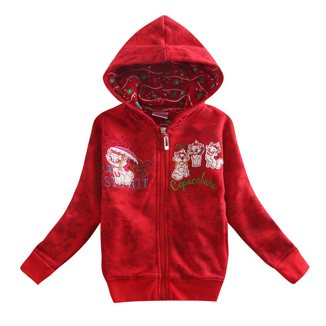 a14b3df26 zipper kids hoodies red jacket children wear new year Sweatshirts ...