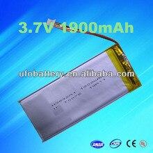 2ชิ้นLi-Ionแบตเตอรี่3.7โวลต์1900มิลลิแอมป์ชั่วโมงแบตเตอรี่ลิเธียมแบตเตอรี่แบบชาร์จไฟสำหรับธนาคารอำนาจ,แล็ปท็อปพีซีแท็บเล็ต