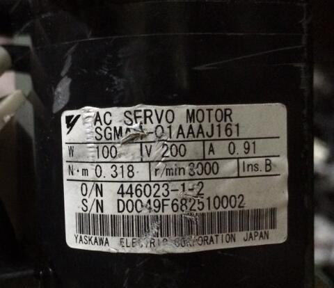 Servo motor  SGMAH-01AAAJ161 ,  90% appearance new ; 3 months warranty ; in stock, fast deliveryServo motor  SGMAH-01AAAJ161 ,  90% appearance new ; 3 months warranty ; in stock, fast delivery