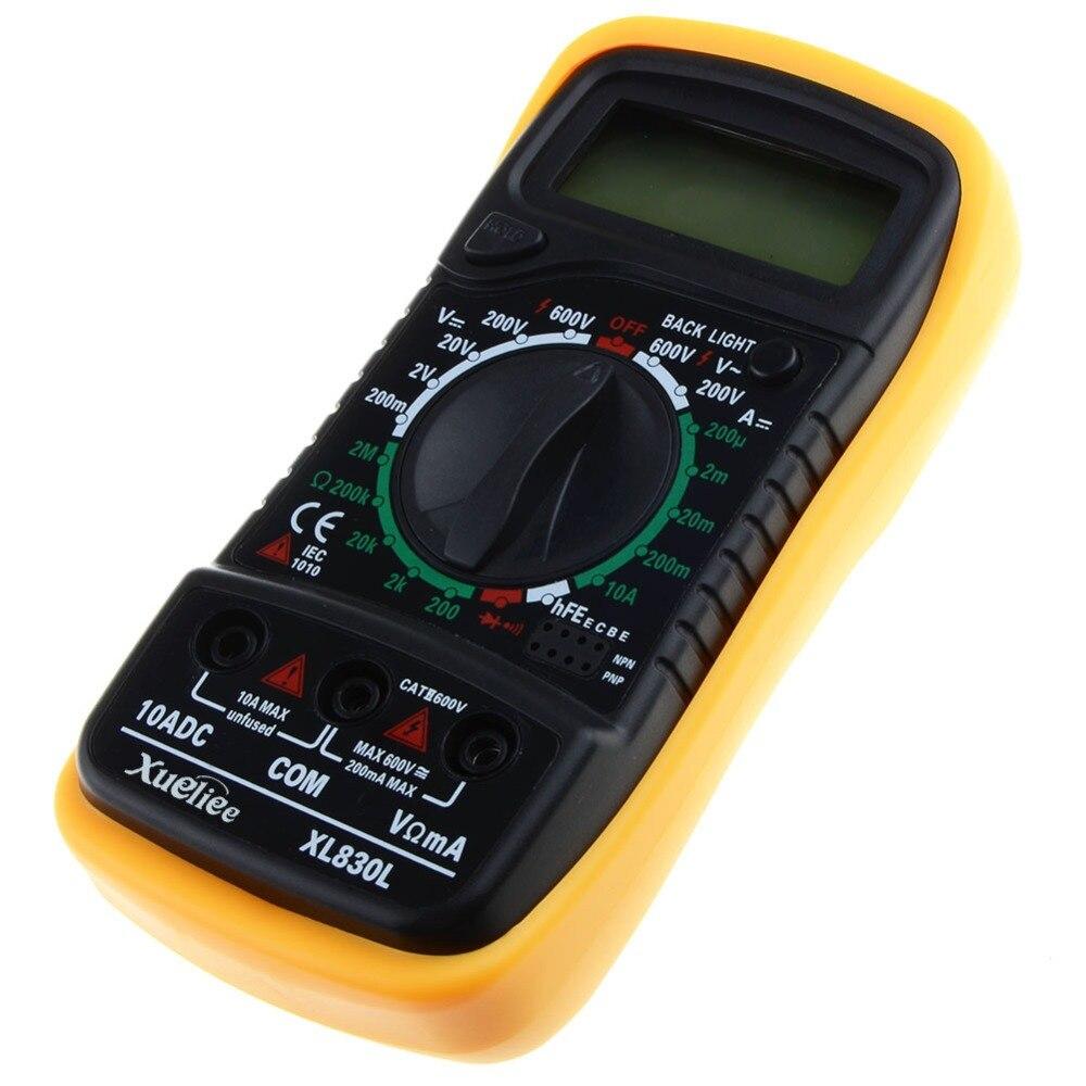 Tragbare Digitale Multimeter Hintergrundbeleuchtung AC/DC Amperemeter Voltmeter Ohm Tester Meter XL830L Handheld LCD Multimetro