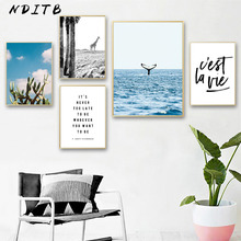Scandinavian Decoration Landscape Canvas Wall Art Poster Quote Nordic Style Print Painting Decorative Pictures Modern Home Decor