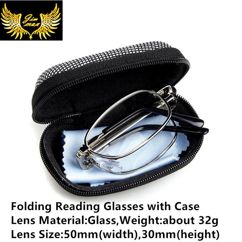 Reading-Glasses Folding Prebyopia Women Fashion New For Square Full-Rim