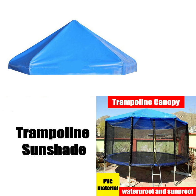 PVC Material Trampoline Sunshade, 6 feet Trampoline Canopy, Rainproof Kids Trampoline Shade Cover, Trampoline Part цена