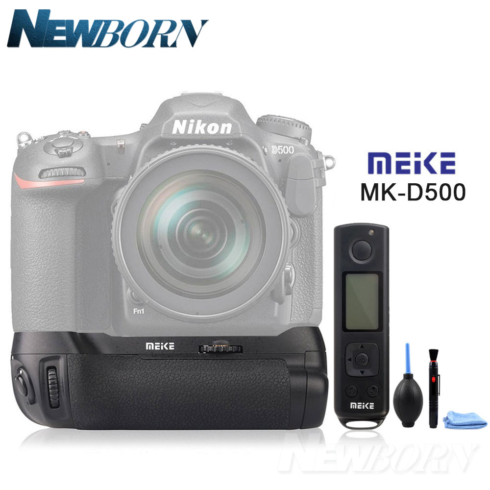 Meike MK-DR500 Pro Vertical Battery Grip Built-in 2.4GHZ FSK Remote Control Shooting for Nikon D500 Camera as MB-D17 Accessories meike mk 760d pro built in 2 4g wireless control battery grip suit for canon 750d 760d as bg e18