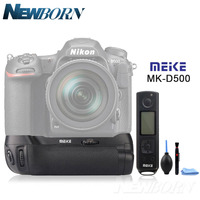 Meike MK DR500 Pro Vertical Battery Grip Built in 2.4GHZ FSK Remote Control Shooting for Nikon D500 Camera as MB D17 Accessories