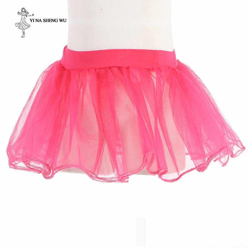 เด็กใหม่กระโปรงบัลเล่ต์ Tutu เครื่องแต่งกายเต้นรำปาร์ตี้ Tulle บัลเล่ต์เต้นรำยิมนาสติก tutu เต้นรำ fluffy กระโปรงเจ้าหญิง