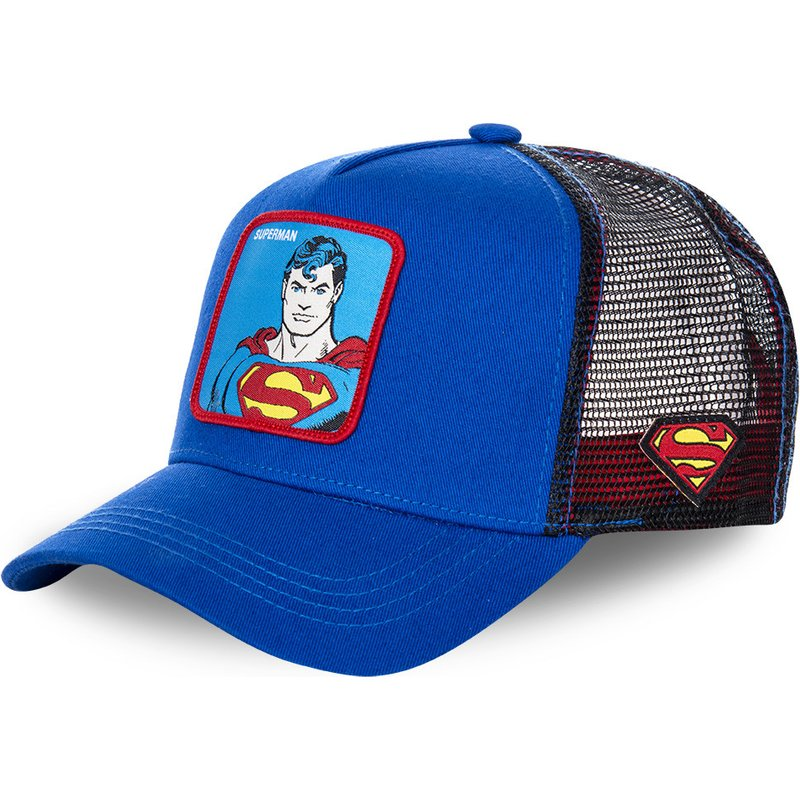 2019 new Marvel patch embroidered   baseball     cap   high quality fashion superman pattern net   caps   hip hop hat cool street dance hats