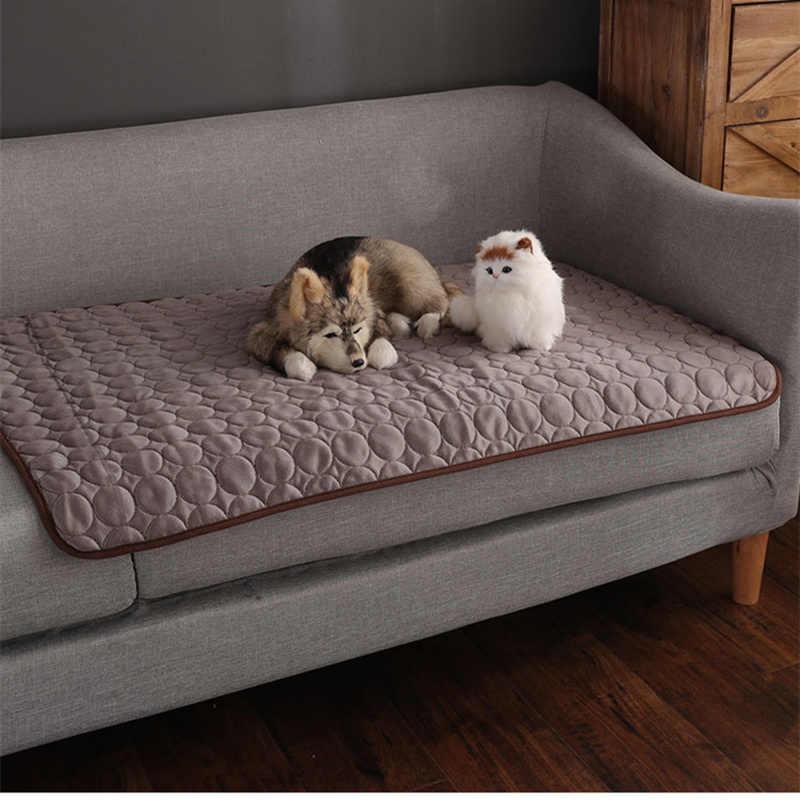 Animaux de compagnie d'été housse de canapé tapis en Polyester respirant pour chiens/chats mode housses de canapé pour 1/2/3/4 siège canapé doux et léger