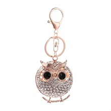 New Design Crystal Owl Keychain Full Rhinestone Key Ring Key Holders For Women Bag Accessories Cute Animal Car Key Chain цена 2017