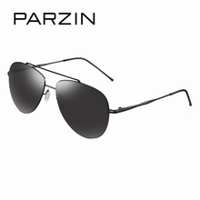 PARZIN Brand Cool Aviator Sunglasses Men High Quality Classic Alloy Frame Coating HD Glasses With Original Case Eye Wear 8155