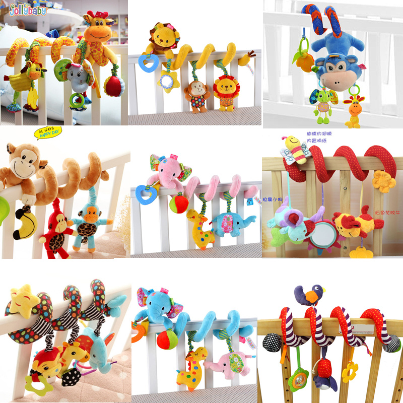 Baby Plush Toys Rattle Crib Bed Stroller Hanging Mobile Toys Infant Animal Musical Toys Gift For Newborn Children 0-12 Months