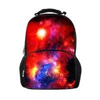 Casual Backpack Men 3D Printed Galaxy Rucksack Large Capacity Travel Back Pack Male Multi Color Bagpack