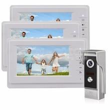 DIYSECUR 7 inch TFT Color LCD Display Video Door Phone Video Intercom Doorbell 700TVLine HD IR Night Vision Camera 1V3