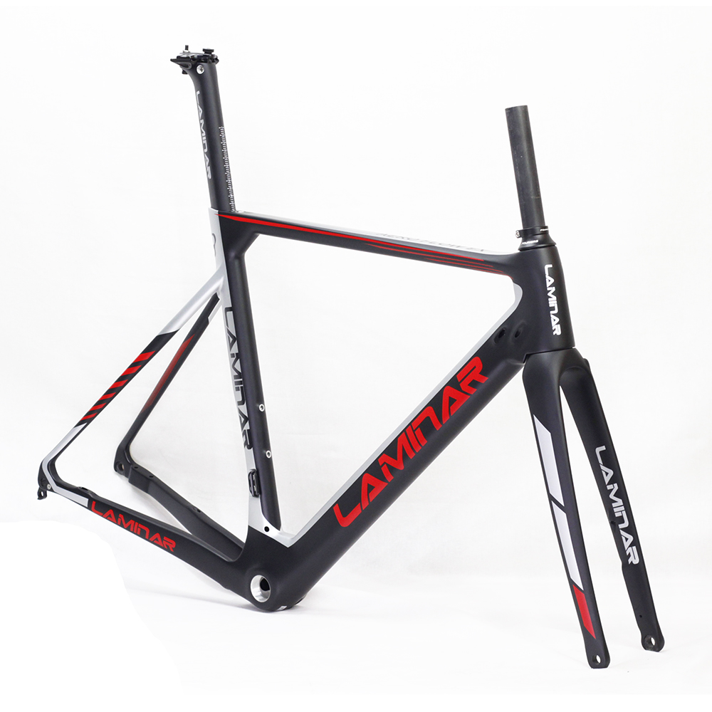 Fouriers LAMINAR Carbon Road Bike Frame Fork Seatpost 700C Thru Axle Disc Brake Cyclocross Bicycle Frameset Bicycle Parts 2017 flat mount disc carbon road frames carbon frameset bb86 bsa frame thru axle front and rear dual purpose carbon frame