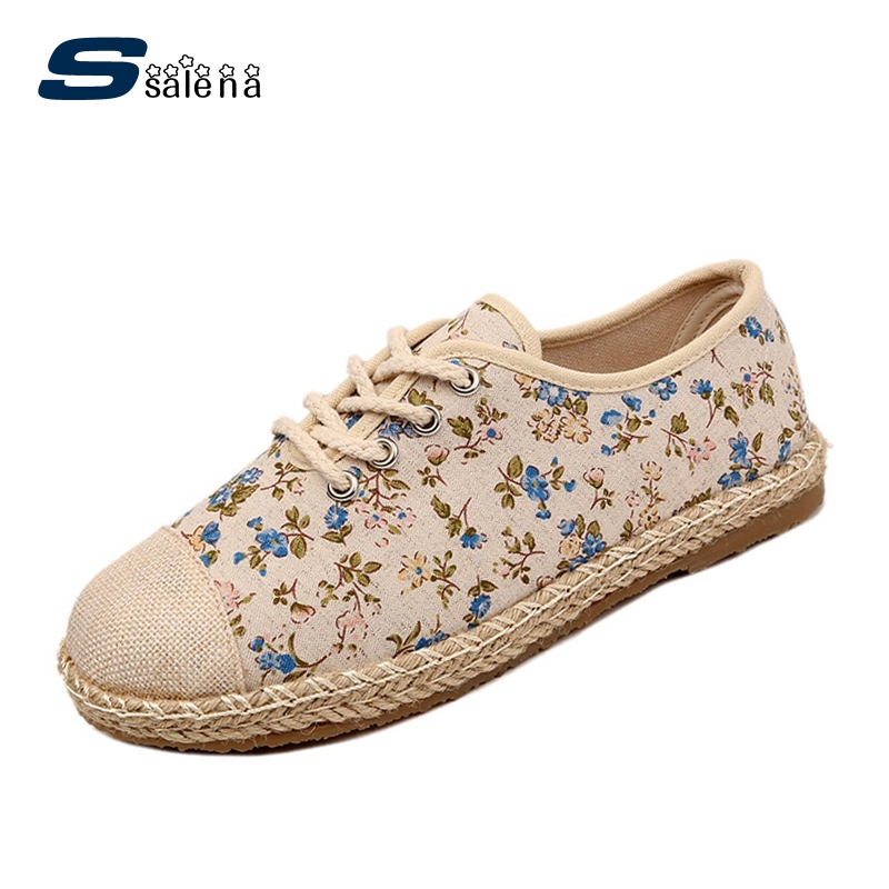 Fashion Women Canvas Shoes Chinese Style Ladies Flats Comfortable Flat With Single Shoes For Women AA50093 vintage embroidery women flats chinese floral canvas embroidered shoes national old beijing cloth single dance soft flats