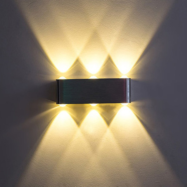 LED Wall Light Up And Down Light Modern Minimalist Interior Mirror Front  Lamp Courtyard Fence Guest
