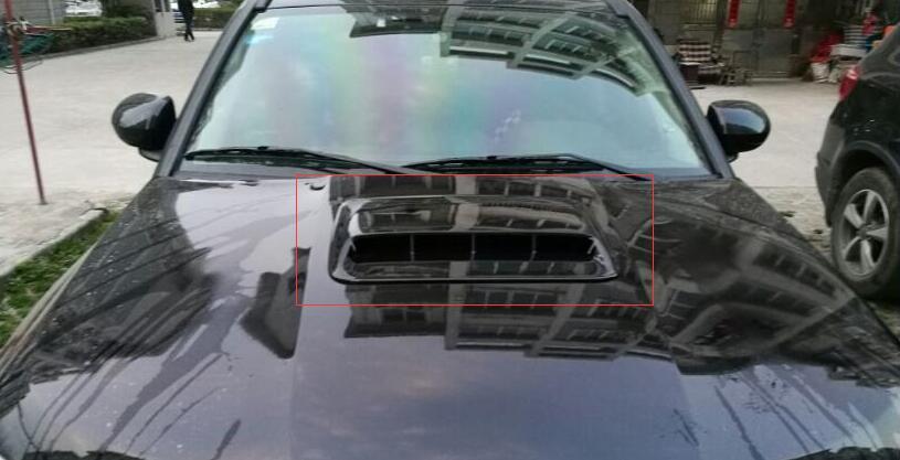 White/ black Universal Car Decorative Air Flow Intake Hood Scoop Vent Bonnet Cover Big style!