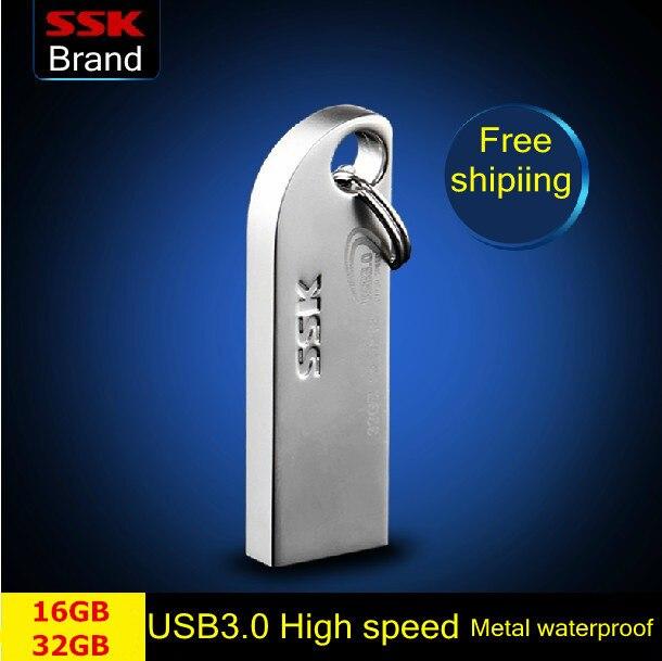 Сск оптово-превью USB 3.0 большой 16 ГБ 32 ГБ USB флэш-накопители металла высокоскоростной флэш-накопитель водонепроницаемый Pendrive 64 г usb-палки бесплатная доставка