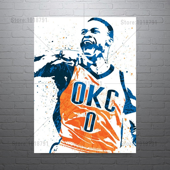 Russell Westbrook OKC Thunder Diy Diamond Painting Cross Stitch Diamond Embroidery Needlework Diamond Mosaic
