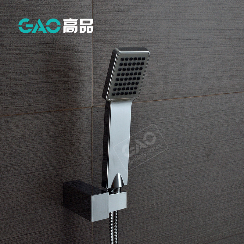 Free Shipping Hand Shower Set, Water Saving Shower,Wall Mounted Hand Held Shower With Hose And Holder Chrome Plated Shower