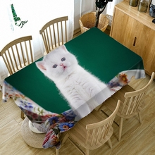 Cute kitten high quality super three-dimensional 3D rural tablecloth bedside cabinet cover cloth tapestry banners wall decor